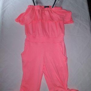 Girls soft Limited Too peach jumper sz 2T
